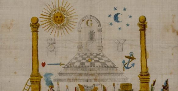 Aprons from the Scottish Rite Masonic Museum and Library